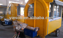 3 Wheels Electric Car with food enclosed box cart