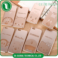 PC electroplating cartoon case for iphone 6 hello kitty case for iphone 6 plus