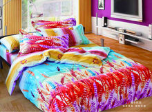 Latest Fashion 100% Cotton Reactive Printed Floral Bed Linen,Sunflower Bedding Set