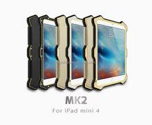 LOVE MEI MK 2 Gorilla Glass Shockproof Outdoor Case Metal Frame for iPad mini 4