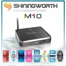 Metal housing Amlogic S812 quad core Android 4.4 kitkat M10 MXQ S812 TV BOX 2GB ram 8GB rom KODI full loaded TV BOX