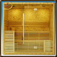 2014 New Products 5 person wood sauna steam shower