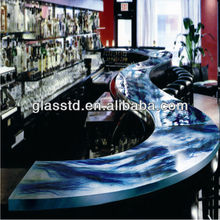 40mm unique glass s shaped glass coffee table