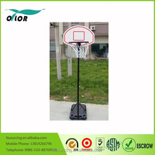 Height adjustable and movable stable and portable basketball stands for kids