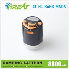 2015 Newest innovation ! high quality mobile camp light power bank with handle