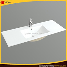 High class vanity top sinks mounting above cabinet wash basin