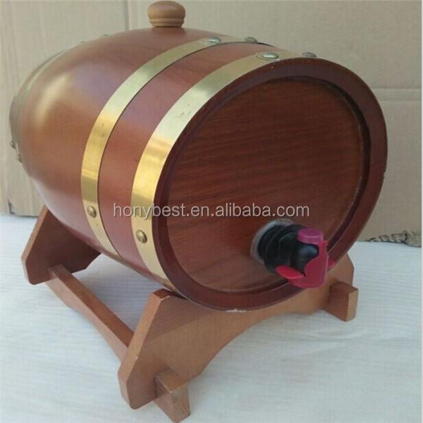 Brown Painted Wooden Whiskey Barrel,Beer Barrels,Wine Barrels for Sale-2.jpg