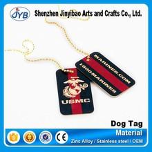 custom brand logo metal tags for bracelet