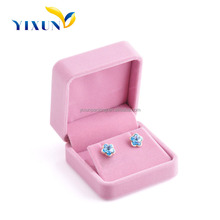 High quality jewelry box knit micro velvet fabric jewelry box