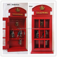 new trend product 2016,MDF Wooden Key Holder Manufacturer,gift items telephone booth shape key holder