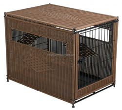 Factory price brown color lovely comfortable pet house outdoor pet house for sale