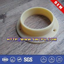 Plastic flange end cap for pipe