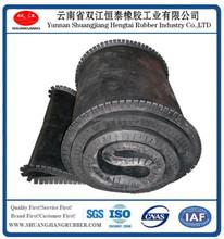 Fabric endless rubber conveyor belt