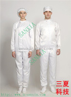 antistatic/dust-proof split cleanroom suit with standing collar/ zippers from china supplier