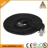 High Performance UTP FTP Cat5e Cat6 32 AWG Slim Flat Patch Cord