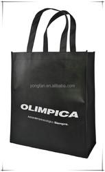 Non woven fabric bags, Reusable eco shopping bag black