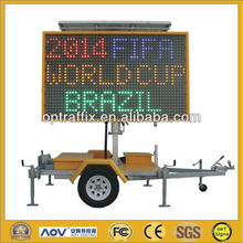 B Size 5 Color Hydraulic Lifting Variable Message Sign,Portable Hydraulic Lifting VMS