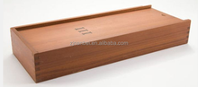 Custom logo and stain color sliding lid wooden knife packaging box