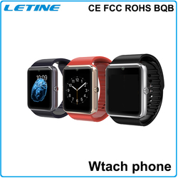 GT08 sim card smart watch phone with camera and sim card support maximum 32G TF card CE FCC ROHS BQB