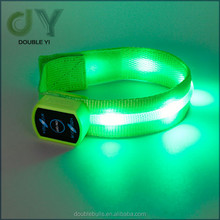 Customized decoration products nylon led bracelet for event / Party Decorations Glow Bracelet