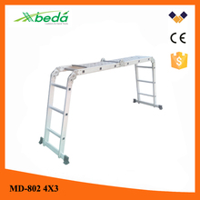 aluminum motorcycle ladder Adjustable low price folding construction ladder (MD-802 4x3)