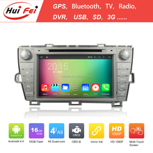 Quad Core Android 4.4 Capacitive car dvd gps for Toyota Prius(Left driving) 2009-2013 with mirror link