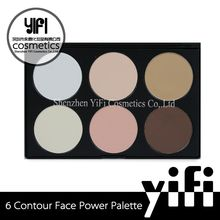 Yify cosmetics factory private label cosmetics 6 colors face powder foundation cream ingredients