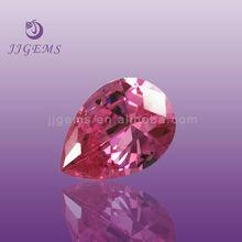 2014 Wholesale pear pink 6*8 zirconia rough pink cubic zirconia