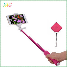 Wholesale cell phone accessories wireless selfie stick with bluetooth shutter button