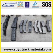 China railway fasteners suppliers iron brake blocks for train or wagon