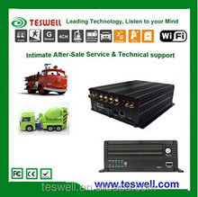 TESWELLTECH CE Certification night vision loop recording 6 ir led vehicle car camera dvr video recorder