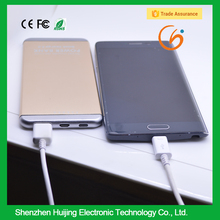 New products 2016 Silver/ Golden color power bank for Samsung galaxy