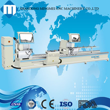 aluminum double mitre saw on window door fabricate industry
