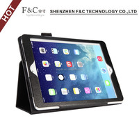 Folio stand leather case for ipad air 2 with stylus pen holder