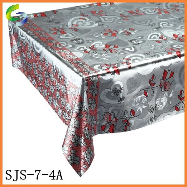 Hermosos diseños de plata de mesa mesa de boda con lentejuela metálico