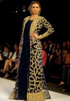 Elegant Women Beadings Blue Long Sleeve Long Evening Dresses Arabic Style Fancy Farasha Jalabiya Islamic Kaftan Abaya Dubai k626