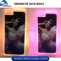 flash light Sublimation LED phone Case for iphone6,sublimation LED case,sublimation LED phone cover