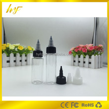 hot new product 30ml PET plastic clear dropper bottle with twist cap from bottle manufacturer