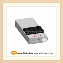 Go pro 3 camera battery dual charger with power bank 7500mah factory supply