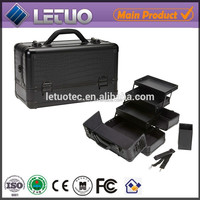 Discount cosmetic bags and cases VIP customers of eyelash extensions aluminum makeup vanity case