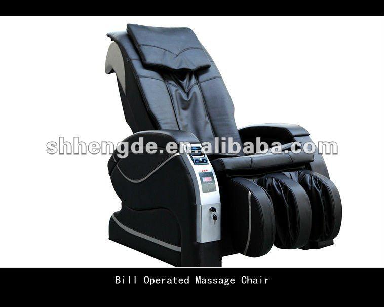 Elétrica Paper Money / Bill Operated cadeira de massagem