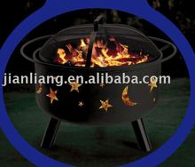 "24"" stars & moons round barbecue"