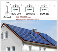 No battery for solar systme anymore, really environment friendly NEP micro inverter 250w 220v and 100v 50 60hz