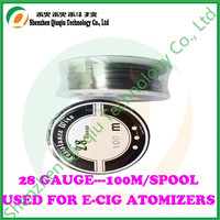 Hot sale 28 gauge 0.3mm heating wire used for e-cigarette atomizer with all kinds of hottest sizes!!!