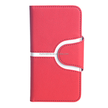 book style pu leather mobile phone case for sumsung galaxy s6