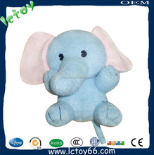 HOT SALES Kids Plush Toy Cartoon Elephant keychain Bag and Cell Phone Accessory