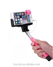 Self Portrait [Battery Free] Extendable Handled Stick with Adjustable Phone Holder Mount & Built-in Remote Shutter