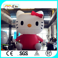 CILE 2015 hot selling custom inflatable giant HELLO KITTY cartoon model