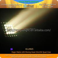 Rotating Stage Light 5*5 25 eyes rgbw LED Matrix Beam moving head light For Nightclub / Concert / Disco