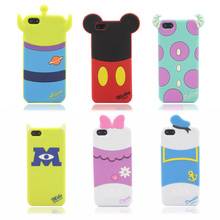 Silicone Case Cover For iphone 5 5S 5C Wholesale and Retail Discount Price Cartoon Shape Lovely Gift Back Cover Case in stock